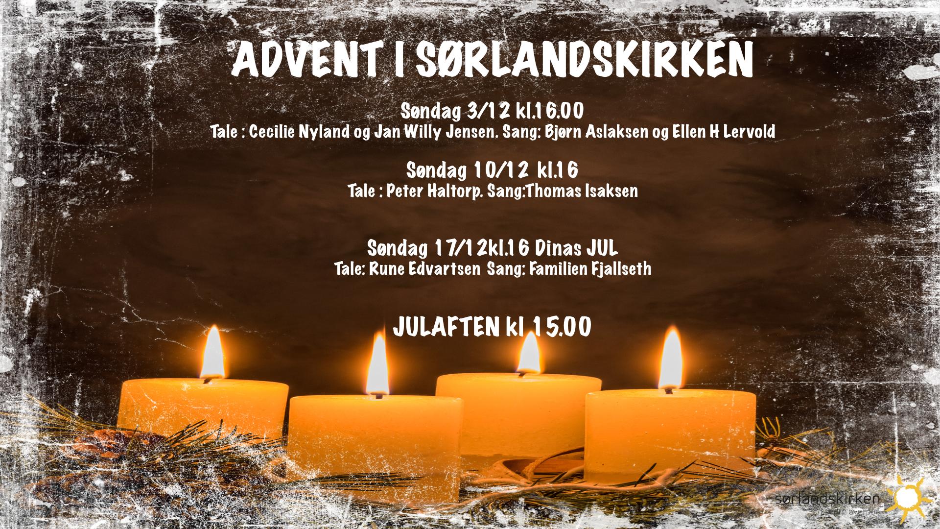 Adventstiden i Sørlandskirken
