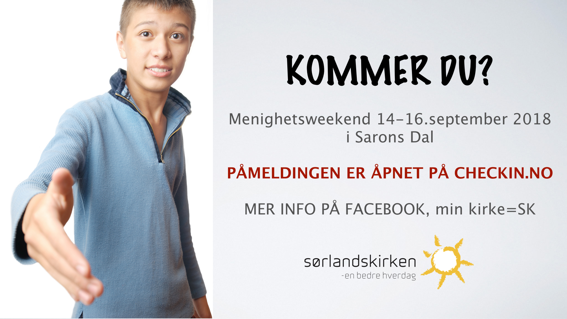 Menighetsweekend til Sarons Dal 14-16 september