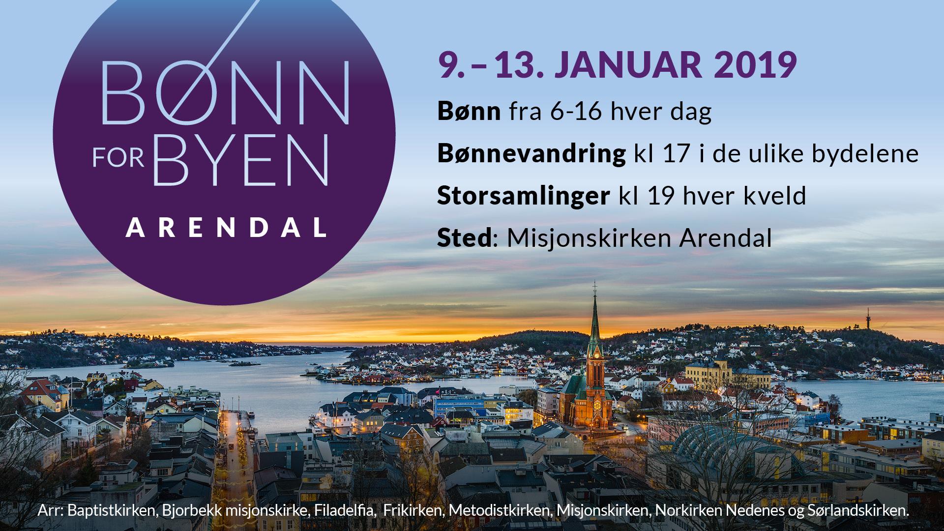 Bønn For Byen Arendal JAN19 Gjeldende Slide
